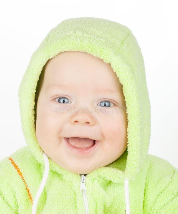逗人喜爱的婴孩特写镜头纵向  免版税库存图片