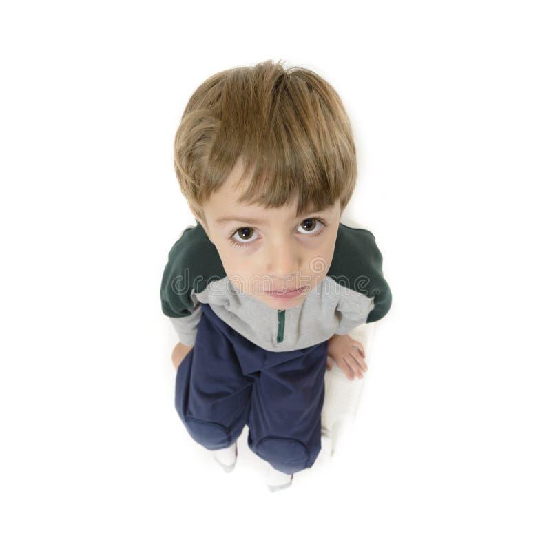 逗人喜爱的孤独的男孩 免版税图库摄影