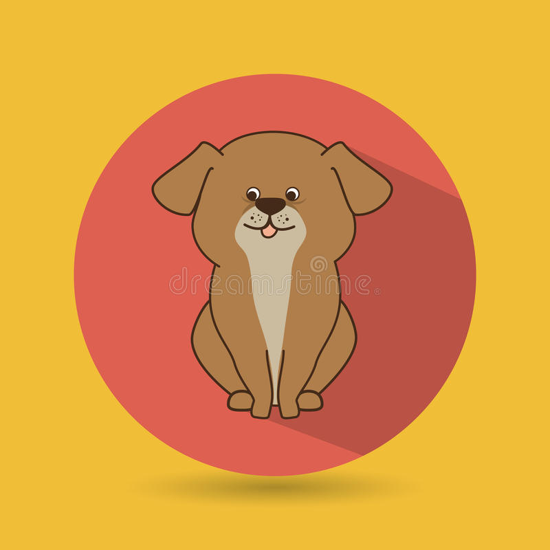 逗人喜爱的宠物设计 向量例证