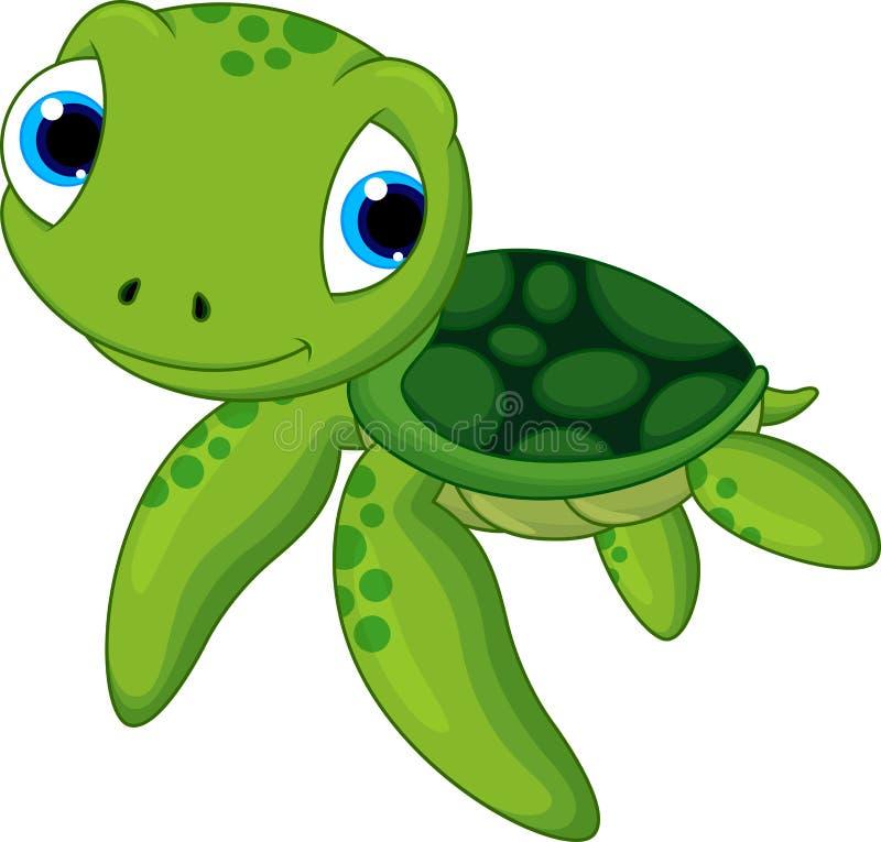 逗人喜爱的小乌龟 向量例证