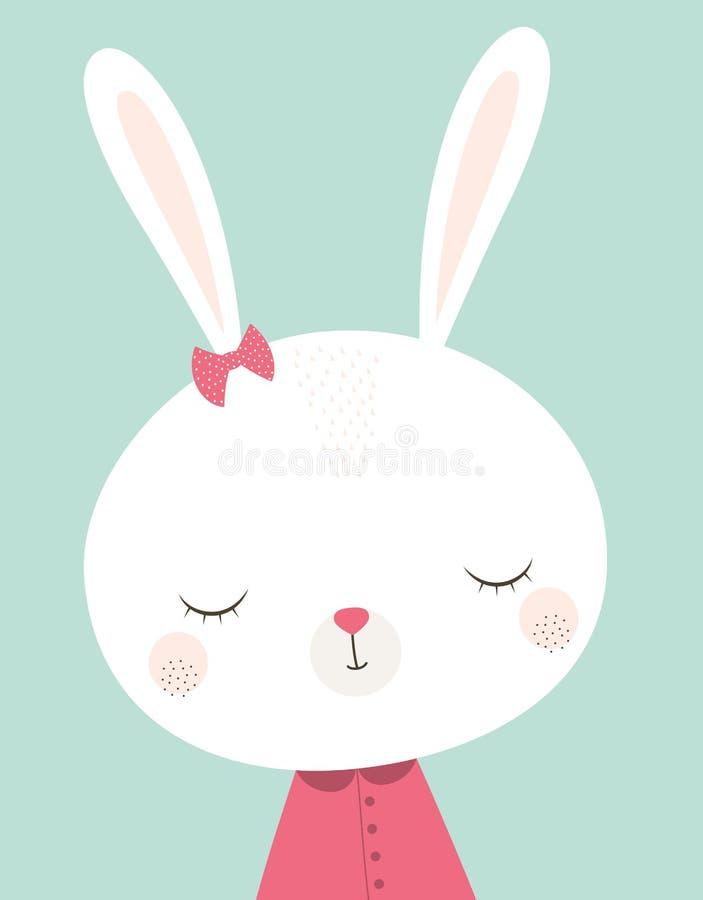 逗人喜爱的小兔 向量例证