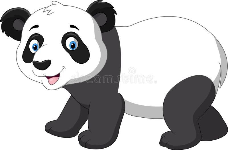 逗人喜爱的小熊猫动画片 库存例证