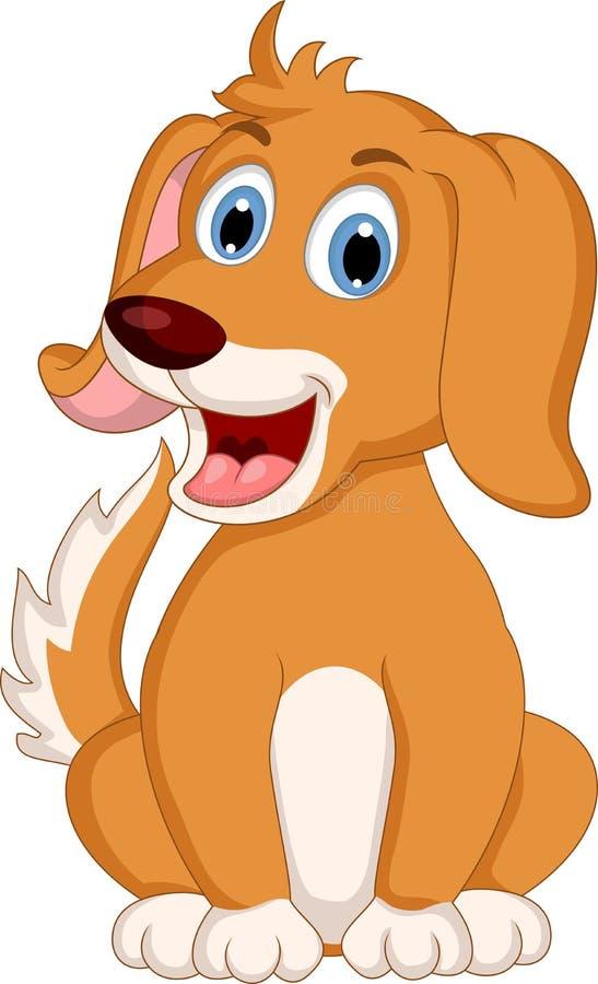 逗人喜爱的小犬座动画片表示 向量例证