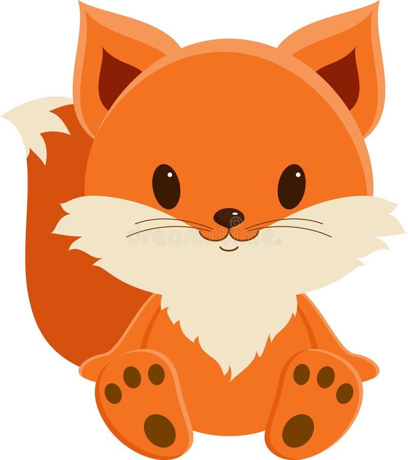 逗人喜爱的小狐狸 库存例证