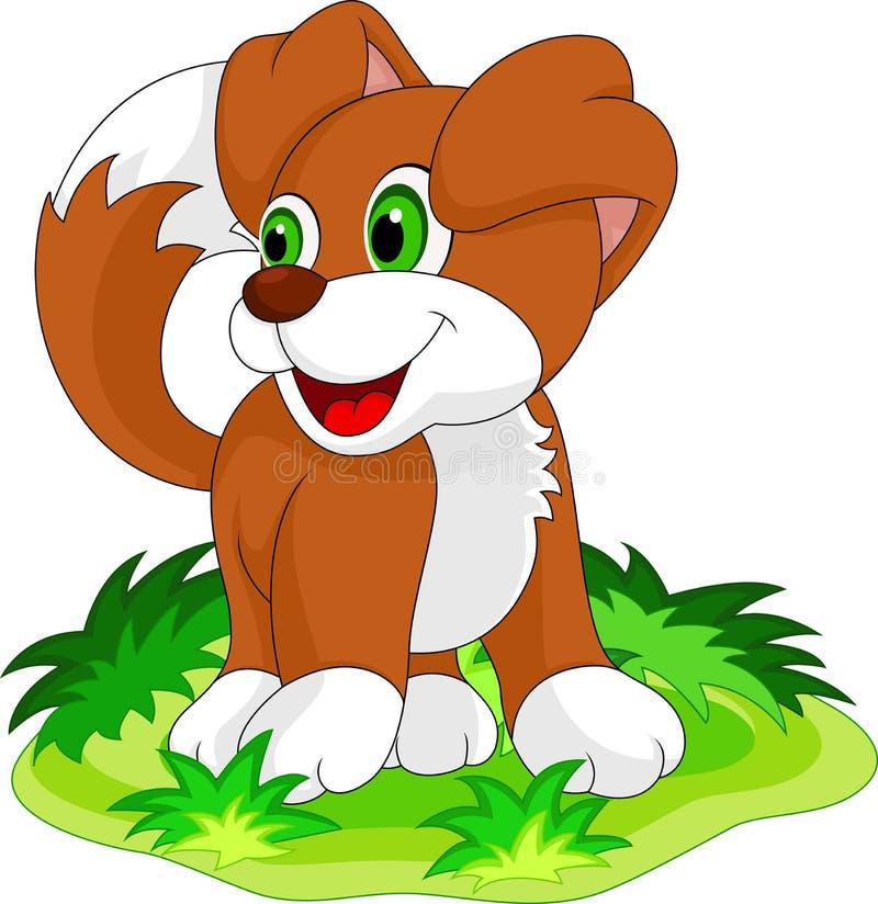 逗人喜爱的小狗动画片 向量例证