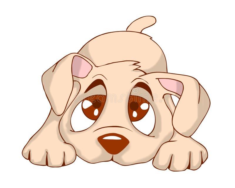 逗人喜爱的小狗 向量例证