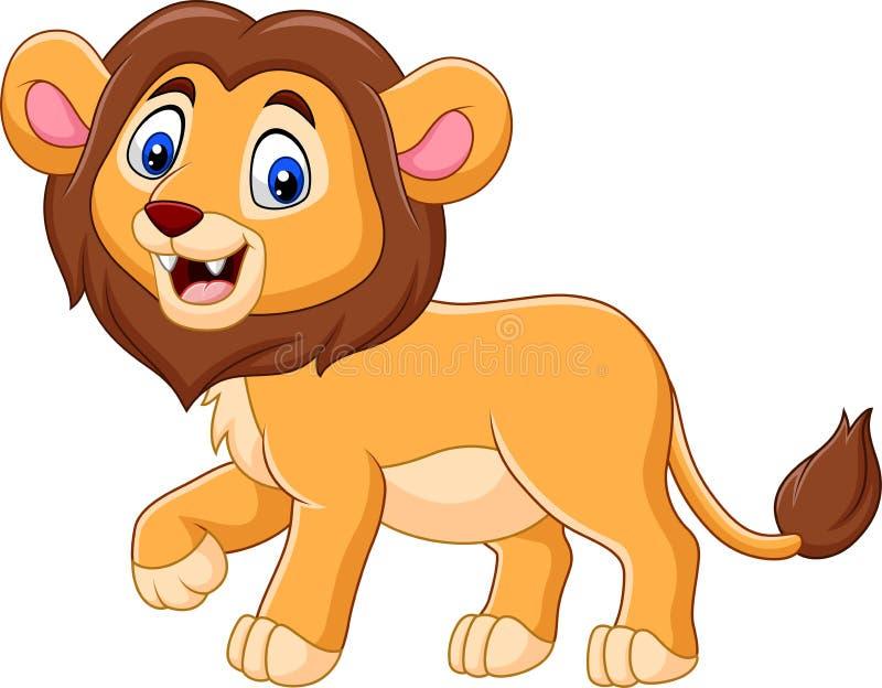 逗人喜爱的小狮子动画片 皇族释放例证