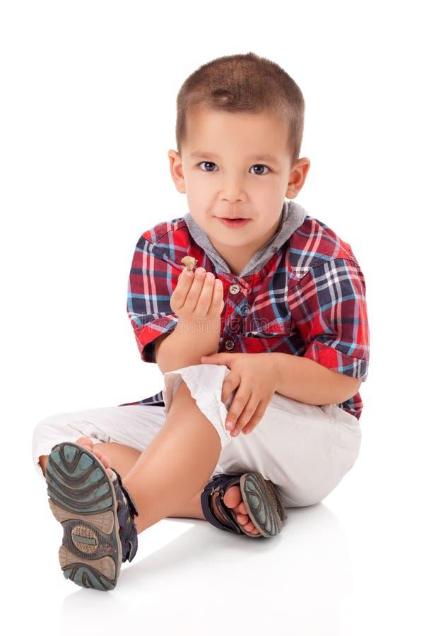 逗人喜爱的小男孩 免版税库存照片