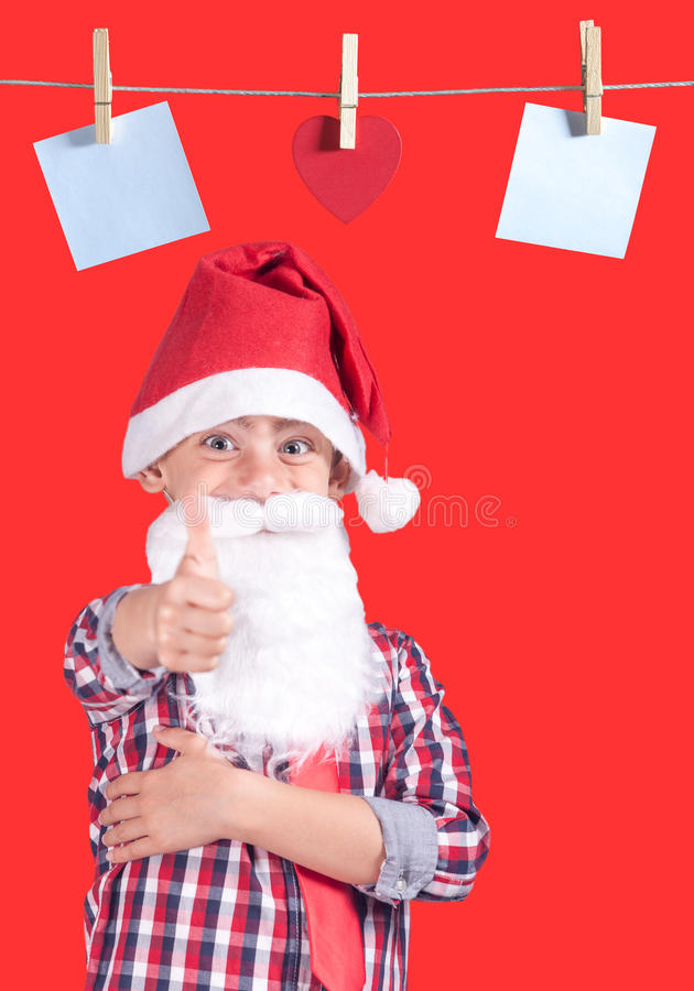 逗人喜爱的小的圣诞老人 库存图片