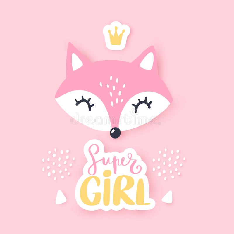 逗人喜爱的小的狐狸 传染媒介动物例证 手拉的动画片狐狸 皇族释放例证