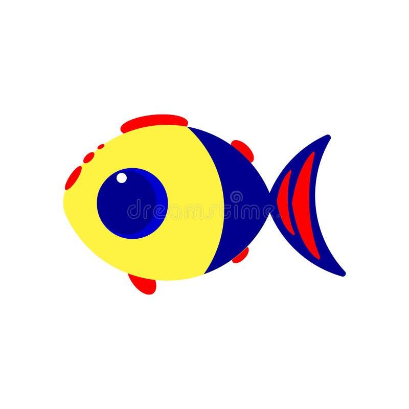 逗人喜爱的小的鱼 r 库存例证