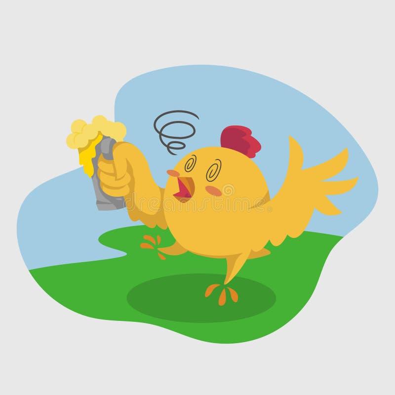 逗人喜爱的小鸡例证 向量例证