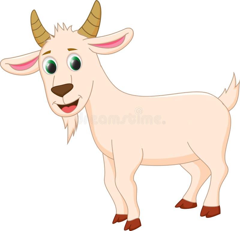 逗人喜爱的山羊动画片 库存例证