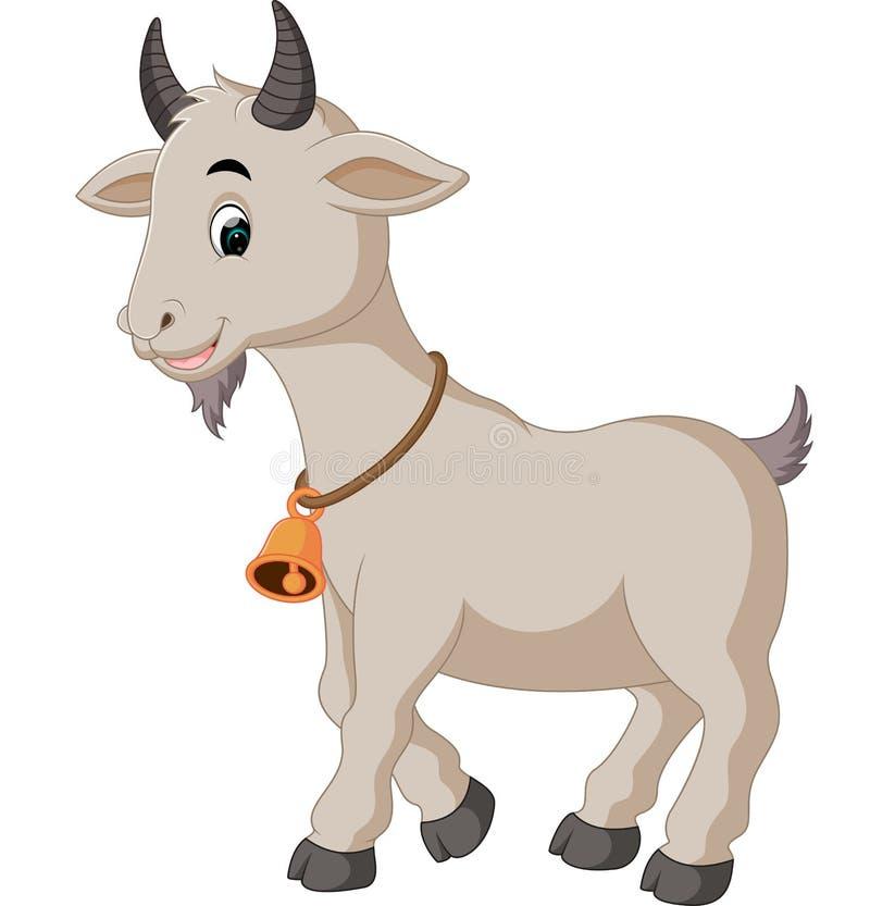 逗人喜爱的山羊动画片 向量例证