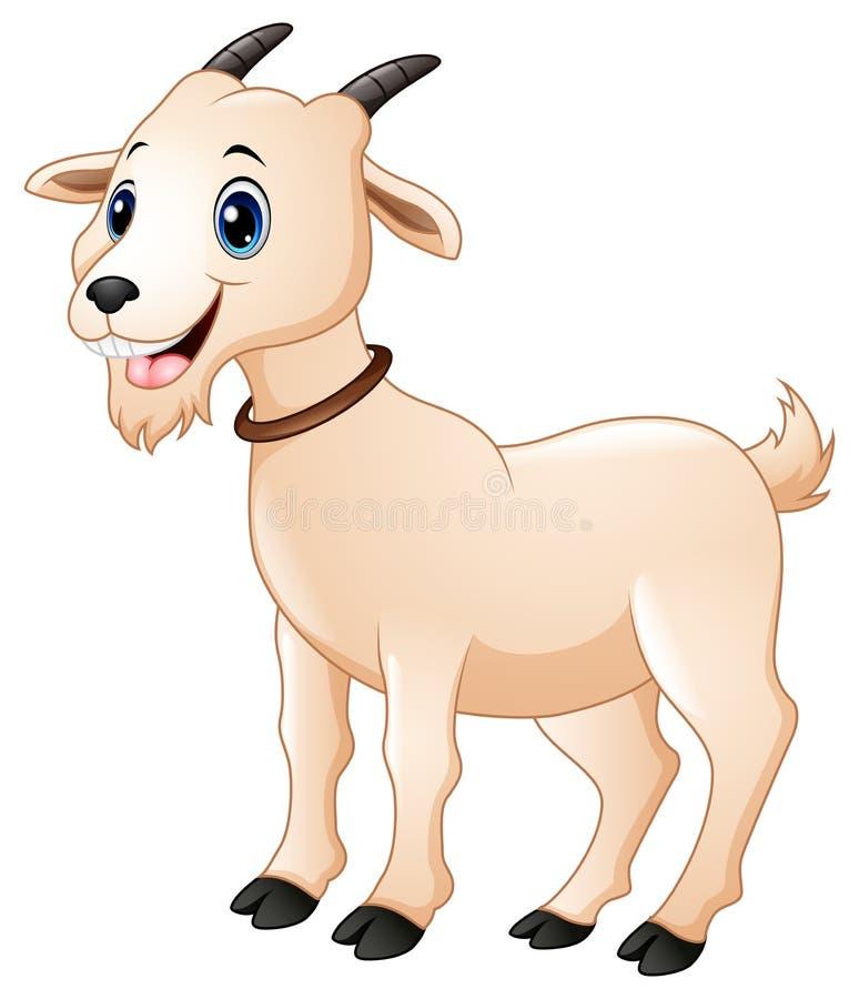 逗人喜爱的山羊动画片 皇族释放例证