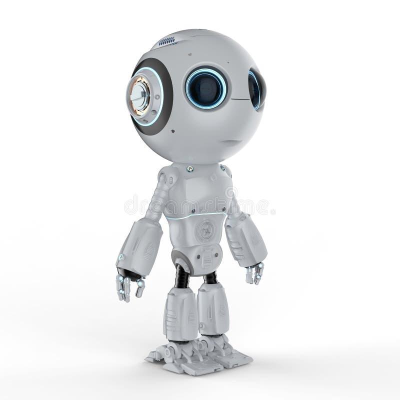 逗人喜爱的微型机器人 向量例证