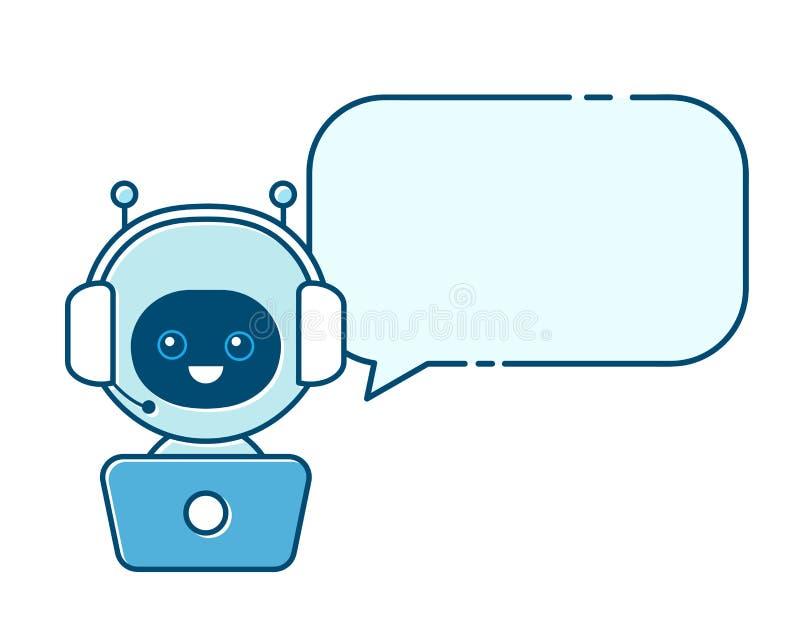 逗人喜爱的微笑的机器人,闲谈马胃蝇蛆 皇族释放例证