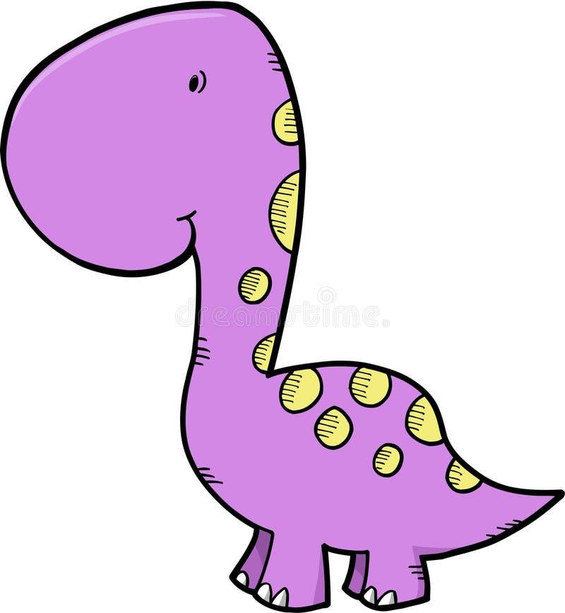 逗人喜爱的恐龙向量 向量例证