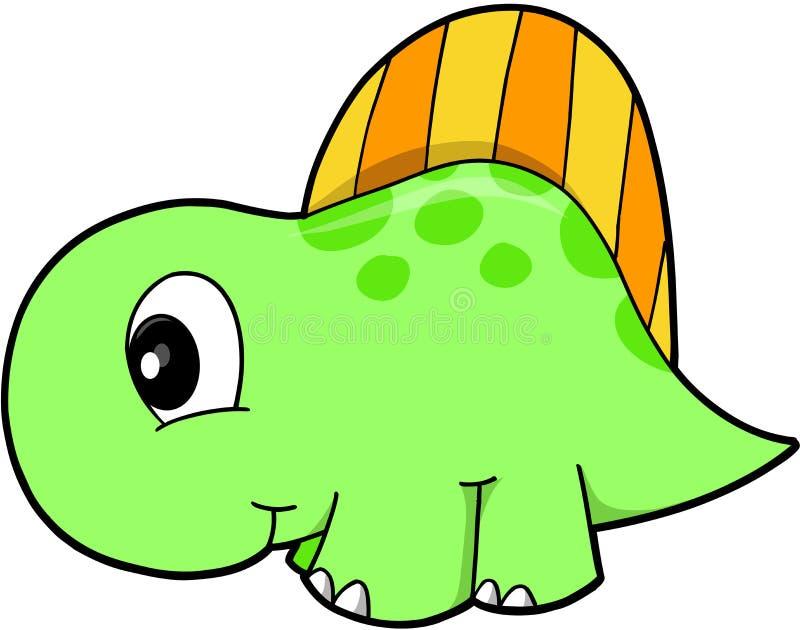 逗人喜爱的恐龙向量 库存例证