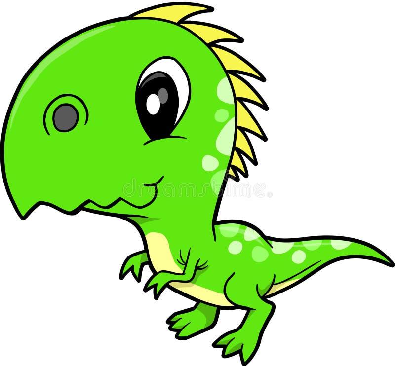 逗人喜爱的恐龙向量 皇族释放例证