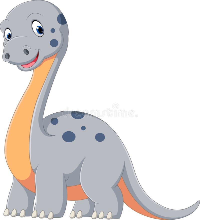 逗人喜爱的恐龙 向量例证