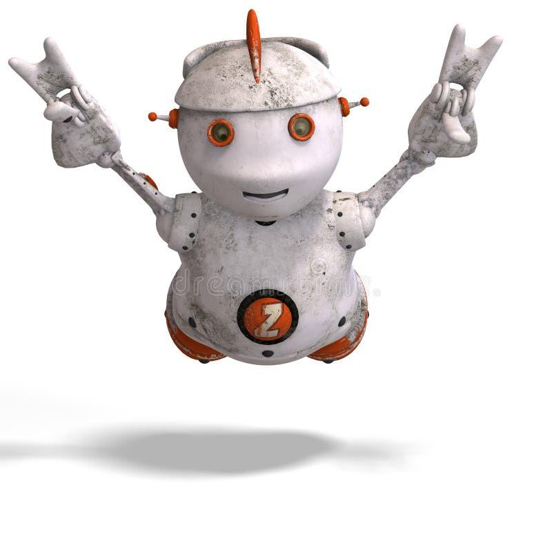 逗人喜爱的情感批次roboter 向量例证