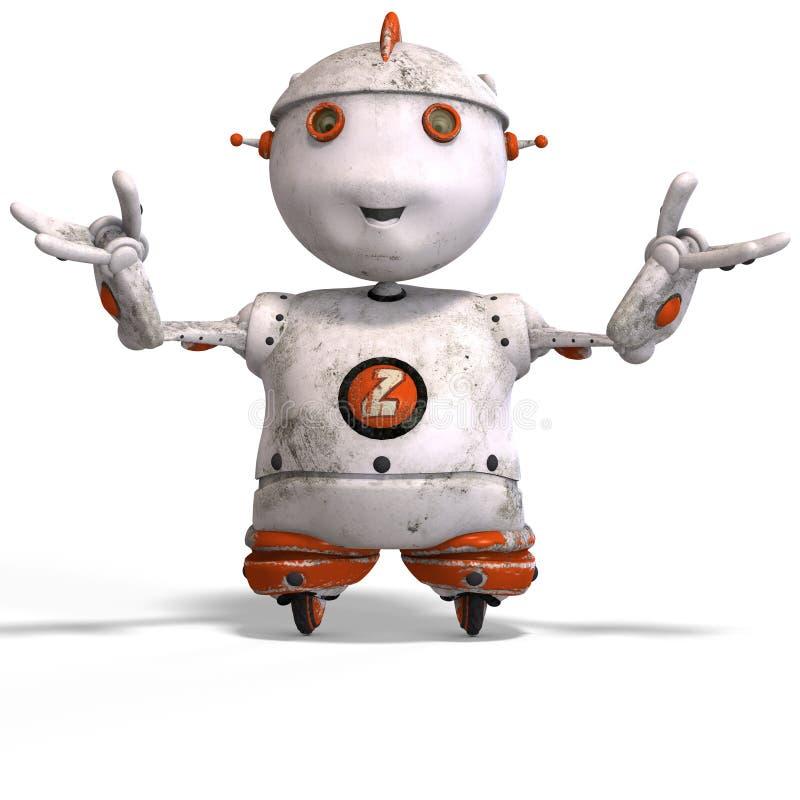 逗人喜爱的情感批次roboter 皇族释放例证