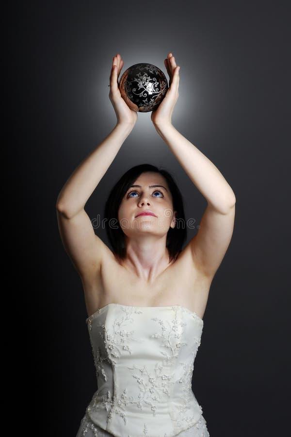 逗人喜爱的新娘 库存图片
