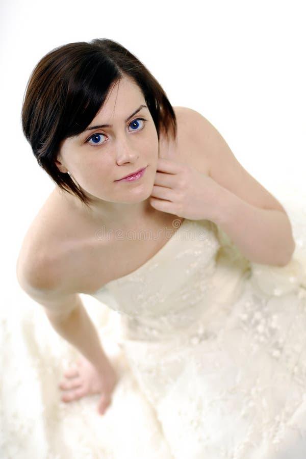 逗人喜爱的新娘 库存照片