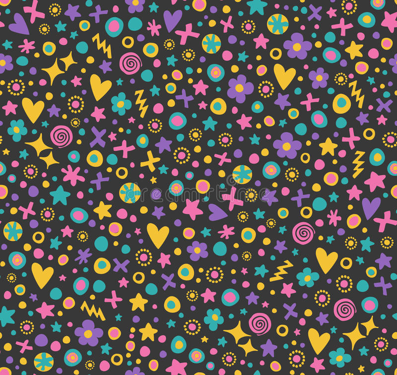 逗人喜爱的无缝的花纹花样 皇族释放例证