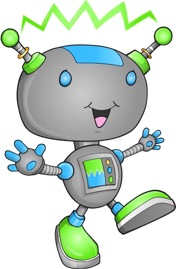 逗人喜爱的机器人向量 免版税库存照片