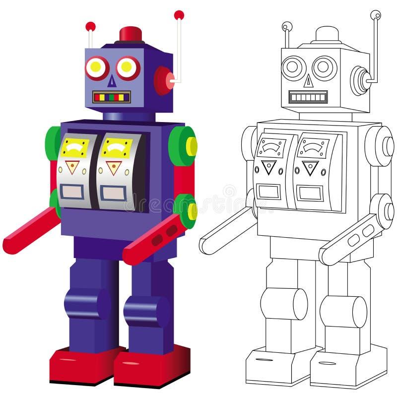 逗人喜爱的机器人玩具 皇族释放例证