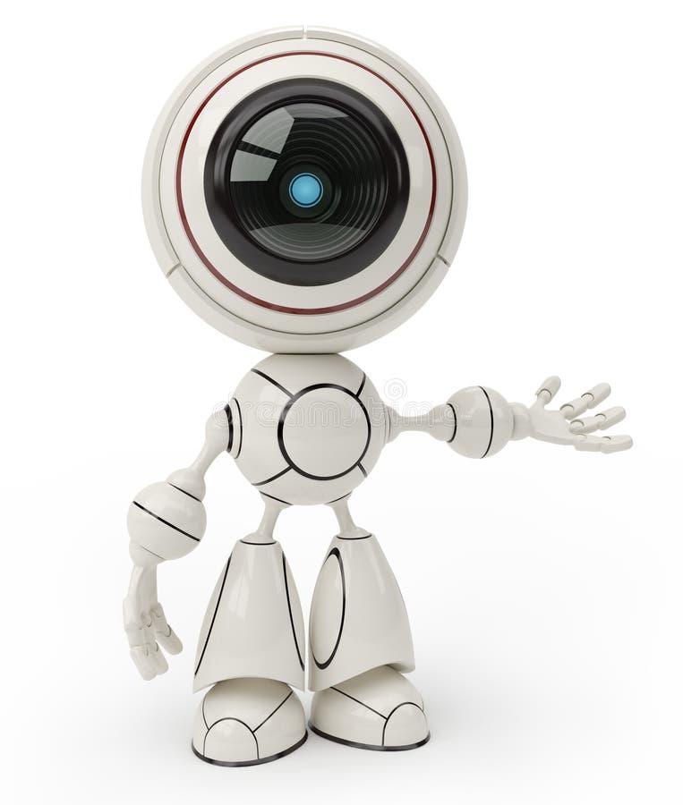 逗人喜爱的机器人 向量例证