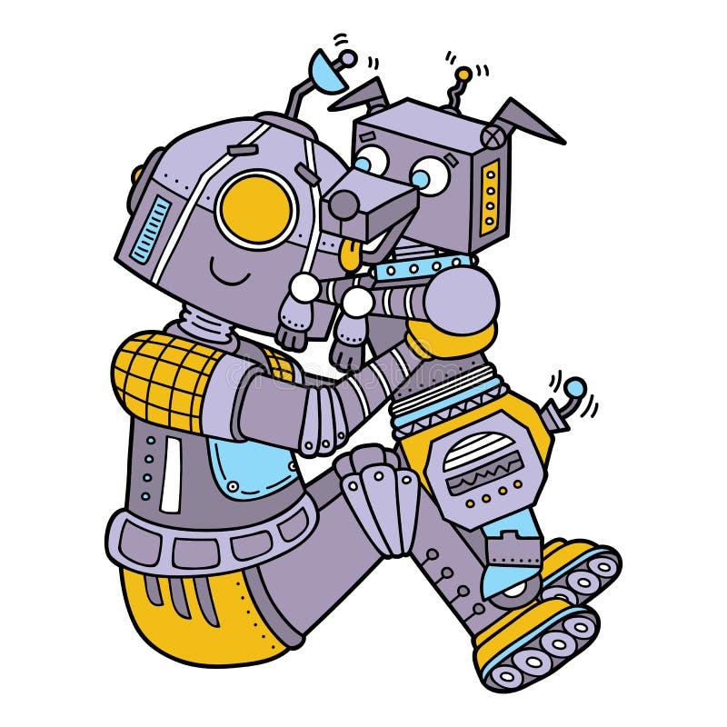 逗人喜爱的机器人 皇族释放例证