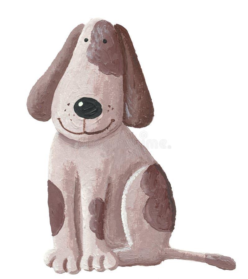 逗人喜爱的棕色狗 向量例证