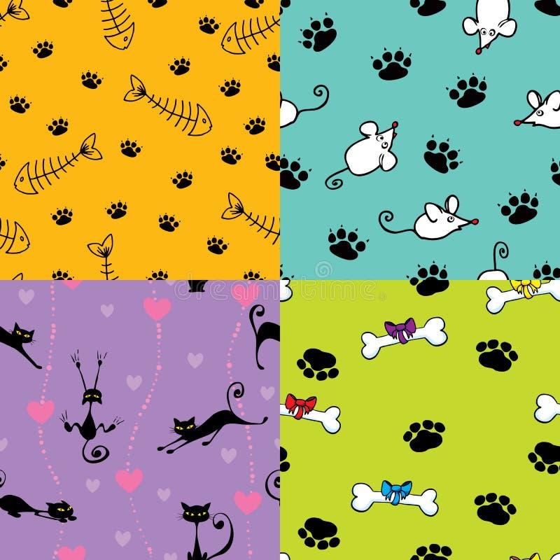 Download 逗人喜爱的模式宠物 向量例证. 插画 包括有 华伦泰, 向量, 背包, 模式, 跟踪, 无缝, 爪子, 例证 - 22358014
