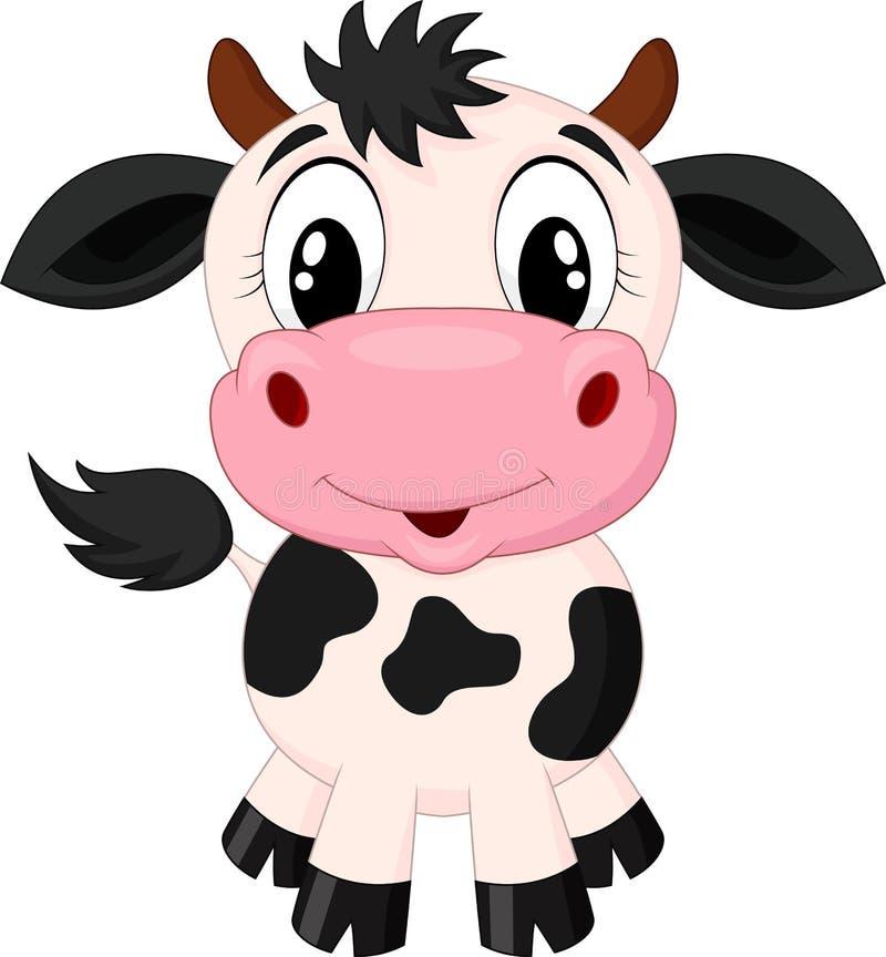 逗人喜爱的母牛动画片 皇族释放例证