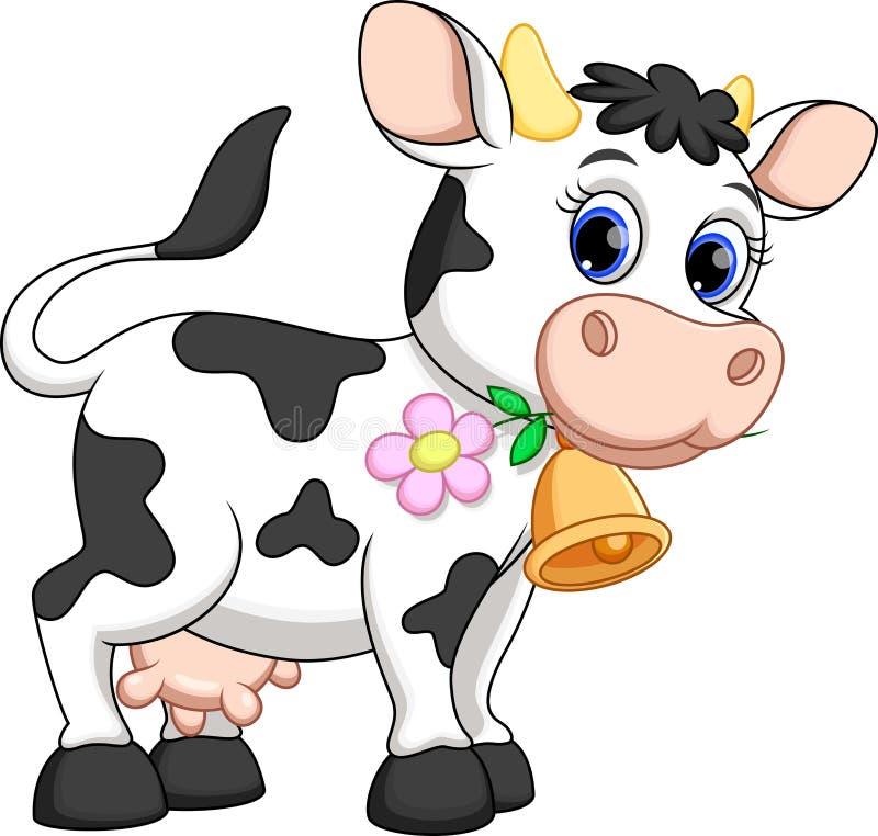 逗人喜爱的母牛动画片 库存例证