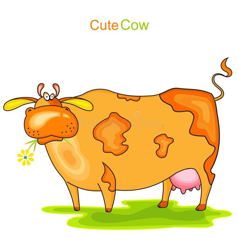 逗人喜爱的母牛 库存例证