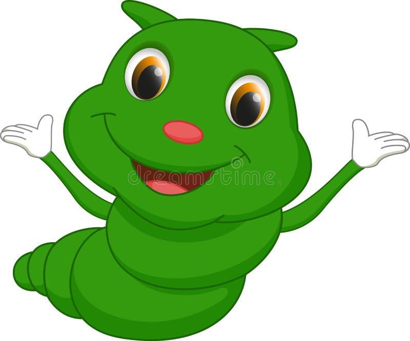 逗人喜爱的毛虫动画片 向量例证