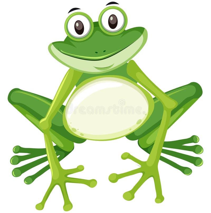 逗人喜爱的池蛙字符 库存例证