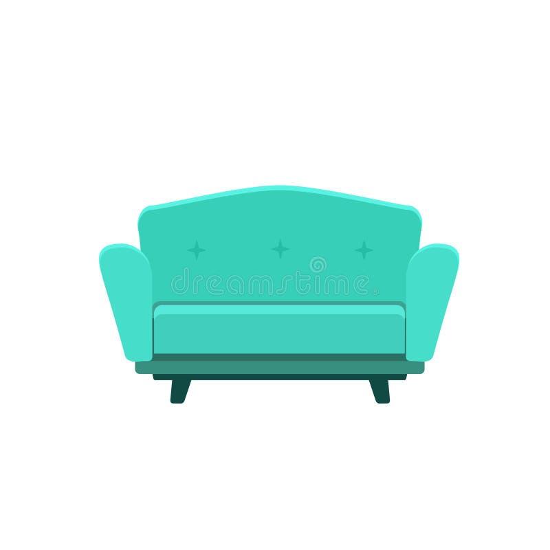 逗人喜爱的沙发的传染媒介例证 向量例证