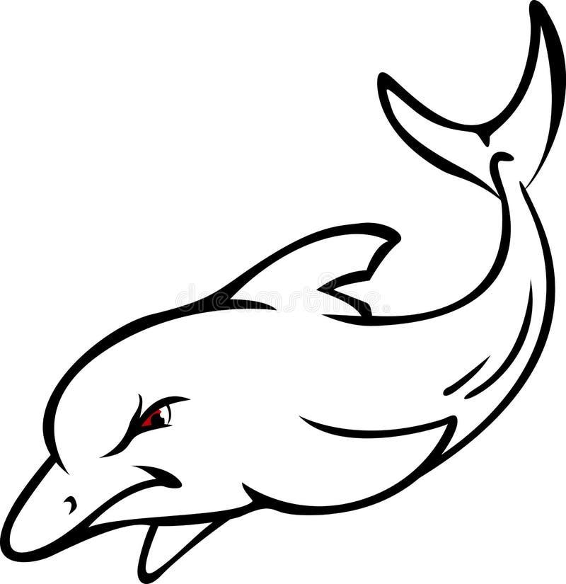 逗人喜爱的海豚纹身花刺设计 皇族释放例证