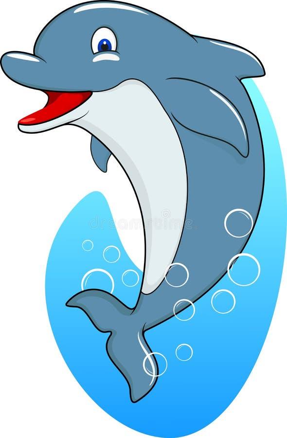 逗人喜爱的海豚身分 库存例证