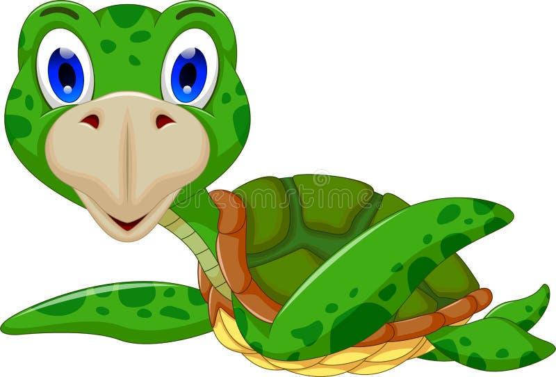 逗人喜爱的海龟动画片 皇族释放例证
