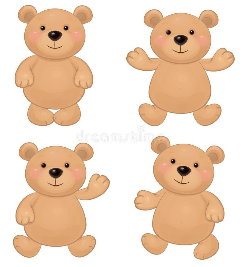 逗人喜爱的熊传染媒介  库存例证