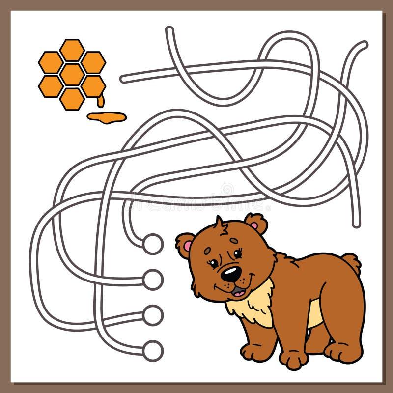 逗人喜爱的熊比赛 库存例证