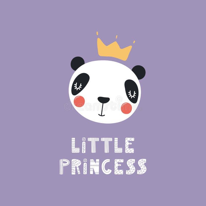 逗人喜爱的熊猫公主 库存例证