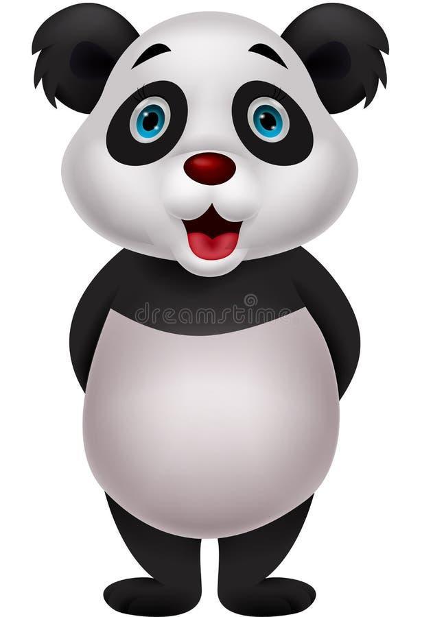 逗人喜爱的熊猫动画片 向量例证