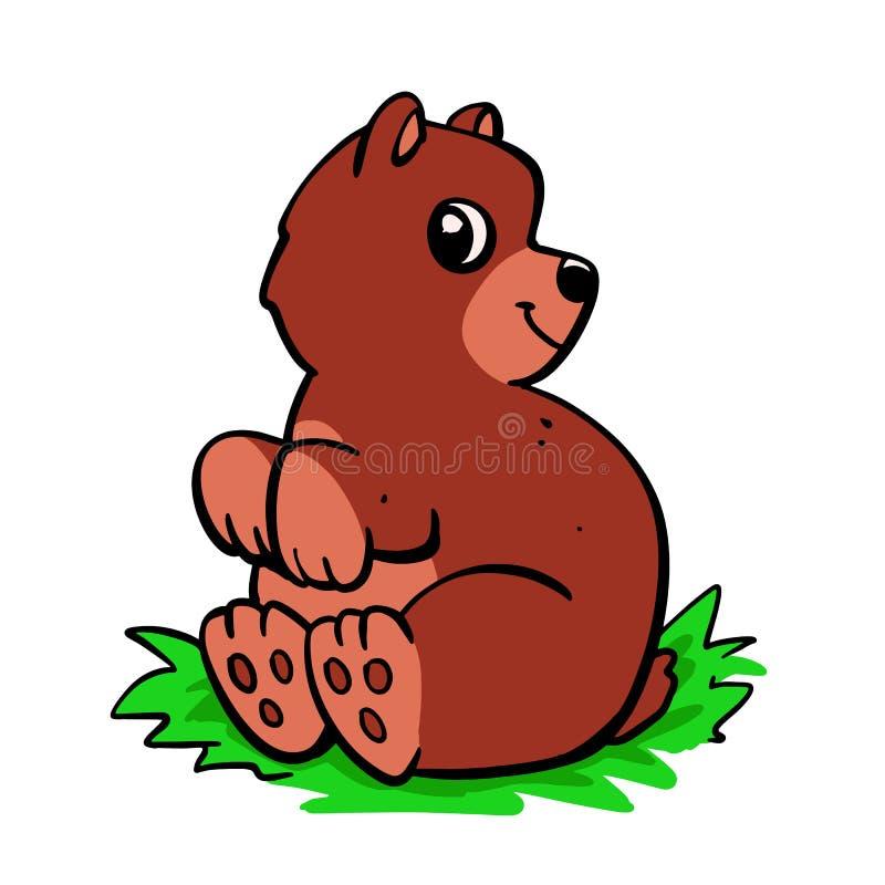 逗人喜爱的熊褐色动画片 皇族释放例证